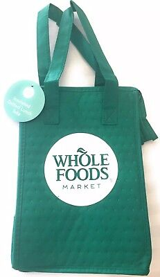 Nwt Whole Foods Market Insulated Dotted Lunch Tote Bag Green
