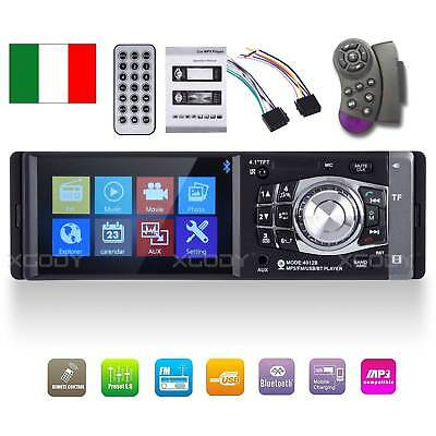 "4.1"" Autoradio Auto Stereo Mp5 1Din Lettore Radio Fm Usb Aux Bluetooth Screen"