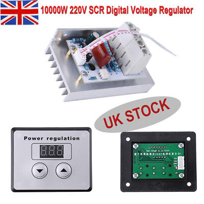 Universal 10000W SCR Digital Voltage Regulator Speed Control Dimmer Thermostat