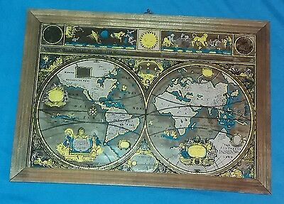 A NEW AND ACCVRAT MAP OF THE WORLD - Spiegel vintage mirror [23 cm x 34 cm]