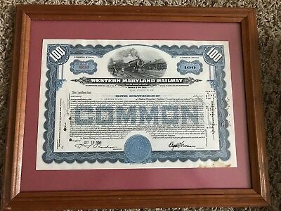 1950 Western Maryland Railway stock certificate