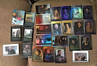 Game of Thrones Season 7 TCG 2 GOLD / Parallels / Q / More - 2018 Inserts