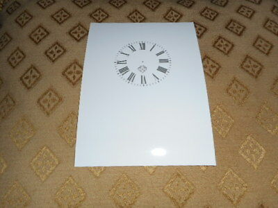 """Ansonia Carriage Clock Paper Dial -  1 1/2"""" (M/T)- High Gloss White- Clock Parts"""