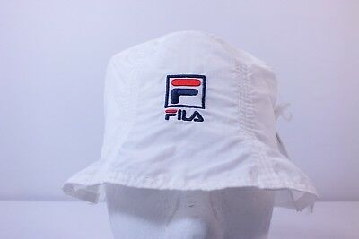 Fila Adult One Size Fits Most Bucket Hat By Fila White Color (E8)