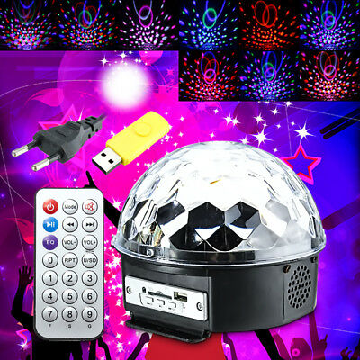 18W LED RGB Crystal Magic Ball Disco  Party Effect Digital Stage Light for Chris