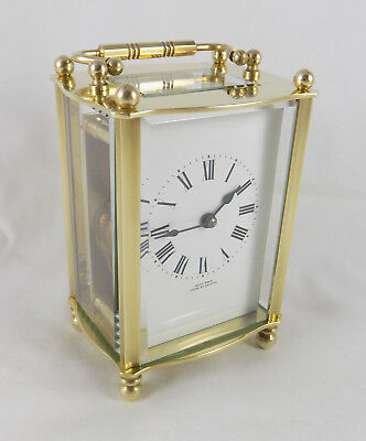 Excellent French 8 Day Carriage Clock - Kemp Bros. Bristol  - Cleaned & Serviced