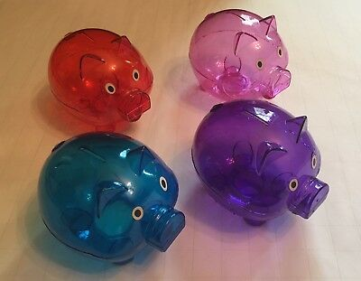 "Mini Piggy Bank 5""x4""x4"" (Save Coins And Dollars)- Pick Color (Blue, Pink, More)"