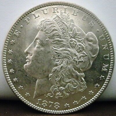 1878-P Uncirculated details PROOF LIKE $1 Morgan Silver Dollar  #560