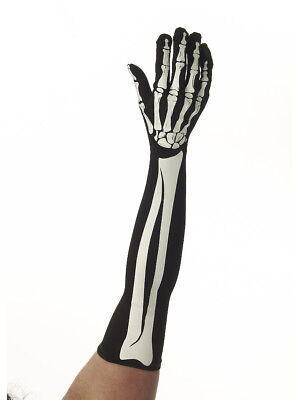 Adult Long Bone Collection Skeleton Costume Accessory Gloves