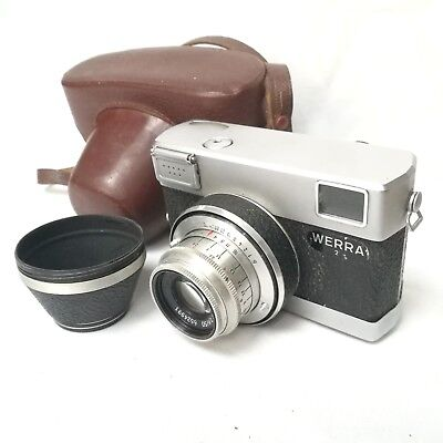 Carl Zeiss Werra 2 (II) Black 35mm Film Light Meter Camera + Jena Tessar 2.8/50