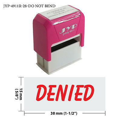 """ Denied "" Self Inking Rubber Stamp - JYP 4911R-29  RED INK"