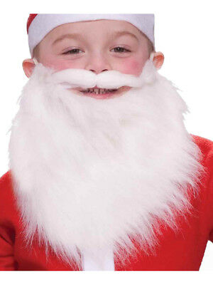 Child's Merry Christmas Santa Claus White Beard And Moustache Costume Accessory