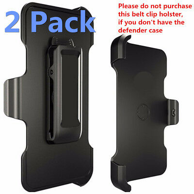 2 Pack Belt Clip Holster Replacement For iPhone 5/6/7/8/X Otterbox Defender Case