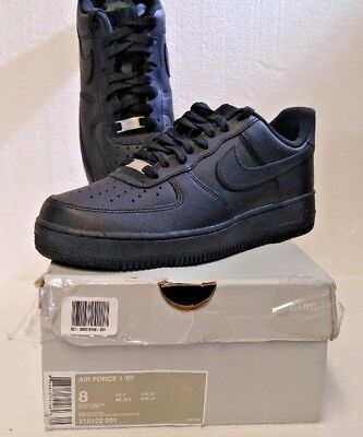 save off ac491 0c6b8 Nike Air Force 1 Men s Exclusive Leather Fashion Sneakers Black Black 315122 -001