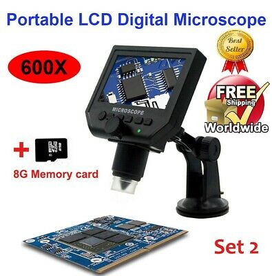 Professional HQ 600X 3.6MP 4.3in HD LCD Electronic USB Microscope Digital Solder