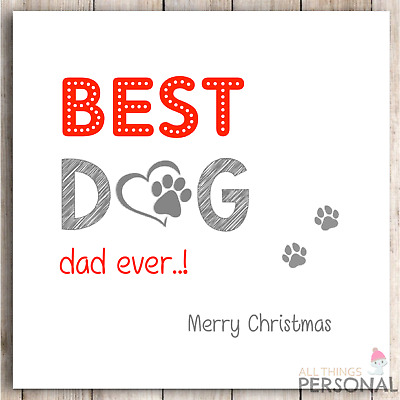 Personalised Christmas Card Dad Daddy First Xmas 1st Son Daughter Pink Cute