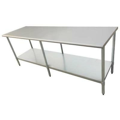 "Stainless Steel Work Prep Table 30"" x 96"" with Undershelf"