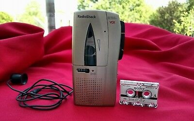 Radio Shack Micro-45 VOX Microcassette Recorder 2 speed 14-1184 Tested Working