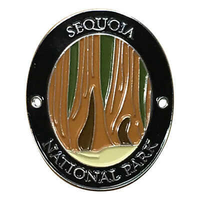 Sequoia National Park Walking Hiking Stick Medallion - Giant Redwoods California