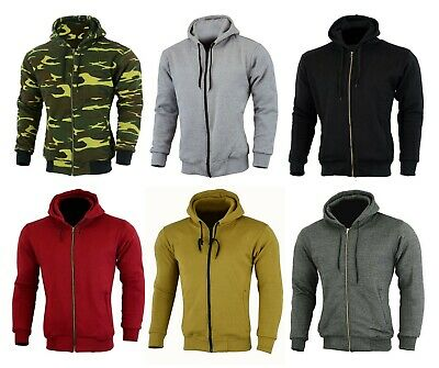 Motorcycle Motorbike Mens  Hoodie Full Protective Armour Lined Fleece Protection
