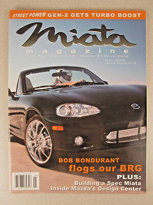 Vintage 2002 MIATA MAGAZINE Issue #2 May Drifting '92 Yellow LE RaRe Mazda HTF
