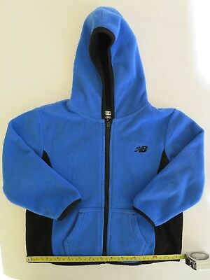 New Balance Toddler Little Boys' Blue Black Zip Fleece Hoodie Hooded Jacket 3 3T