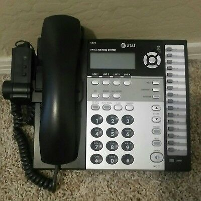 AT&T 1070 4-Line Corded Phone System for Small Businesses with Handset Lifter