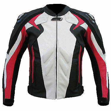 MEN Motorbike/Motorcycle Racing Jacket Cowhide Leather Biker-MotoGp-TOP QUALITY