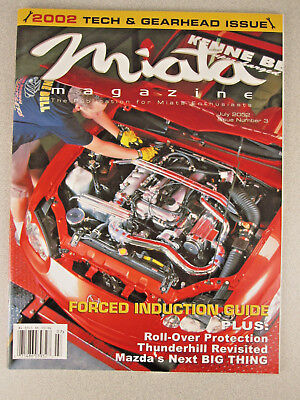 Vintage 2002 MIATA MAGAZINE Issue #3 JULY RaRe KIT CAR Mazda HTF Tech/gearhead