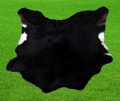 """New Calfhide Rugs Area Cow Skin Leather 6.04 sq.feet (30""""x29"""") Calf hide A-1193"""