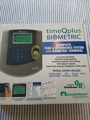 Acroprint TimeQplus Biometric Time and Attendance System