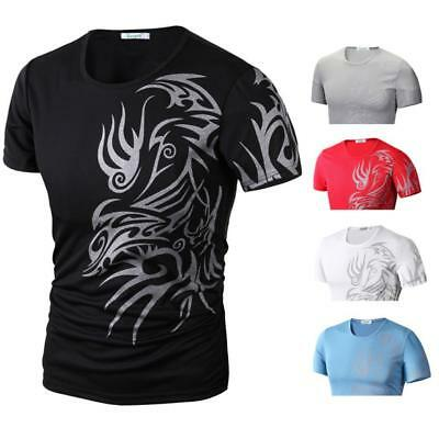 Fashion Men's Slim Fit O Neck Short Sleeve Muscle Casual Tee Shirt T-shirts Tops