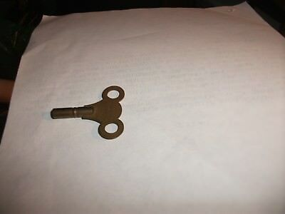 VINTAGE SOLID  BRASS CLOCK KEY WITH 3 STAMPED ON IT 3 mm QUARE DRIVE 4.5 CM LONG