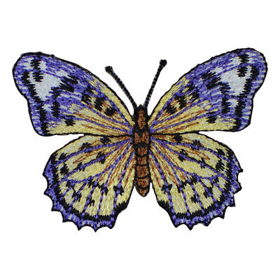 Purple and Yellow Butterfly Applique Patch (Iron on)