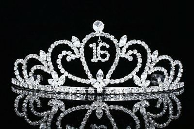 Sweet 16 Birthday Party Princess Rhinestone Crystal Tiara Crown
