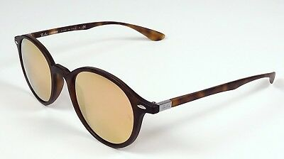 d89897bcbe Ray Ban Tech Round Liteforce Copper Flash Mirror Tortoise Sunglasses 4237  894 z2