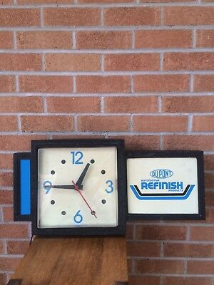 Vintage DuPont Automotive Paints Clock