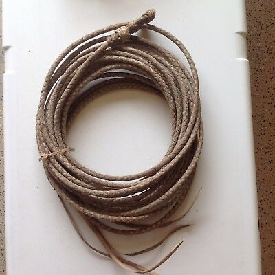 Rawhide Lariat Handmade By My Vaquero In Mexico Approx 35'
