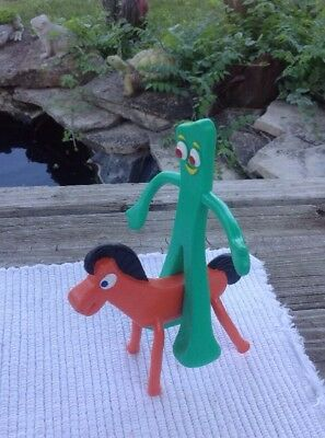 Gumby And  Pokey Bendable Figurines Euc