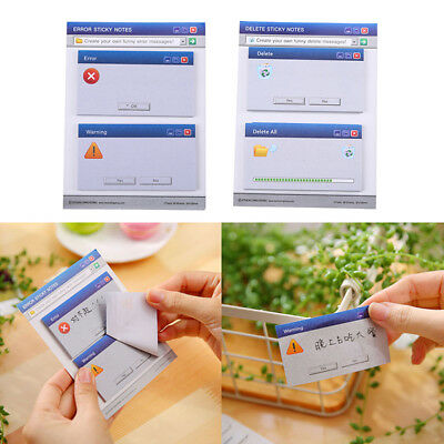 60Pages Memo Pad Computer System DIY Student Scrapbooking Sticky Notes Paper Set