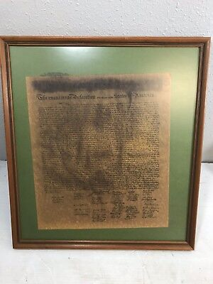 Declaration of Independence Framed Vintage Copy