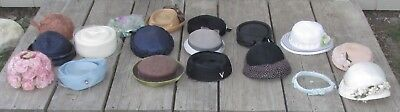 18 Vintage Women's Hats 20's 30's 40's 50's Other