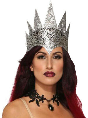 Adults Dark Royalty Evil Medieval Queen Lace Crown Costume Accessory