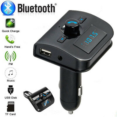 Wireless In-Car Bluetooth Car Kit FM Transmitter Radio Adapter USB charger Mp3