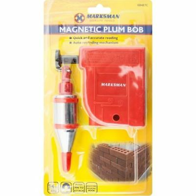 Magnetic Plumb Bob Heavy Duty 400G Builders Drop Line Straight Level Setter Mdf