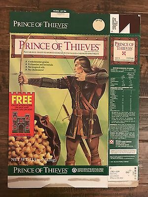 "1991 Ralston ROBIN HOOD ""PRINCE OF THIEVES"" Cereal Box, With Castle Scene! RARE!"