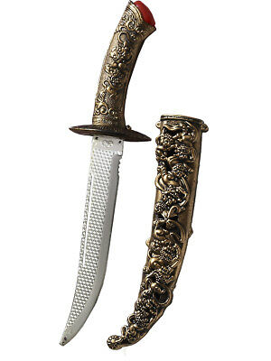 Medieval Fantasy Ornate Assassin Dagger With Sheath Toy Costume Accessory
