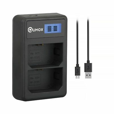 QUMOX NP-FZ100 BC-QZ1 Camera Battery LCD Dual Charger for Sony A7III A9 A7RIII