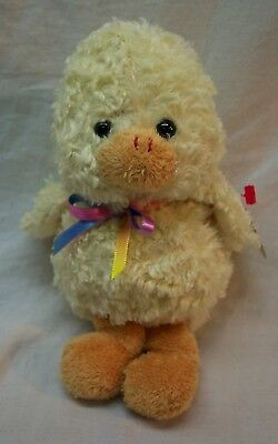 "TY Beanie Babies PEEPS THE YELLOW CHICK 7"" Plush Stuffed Animal NEW"
