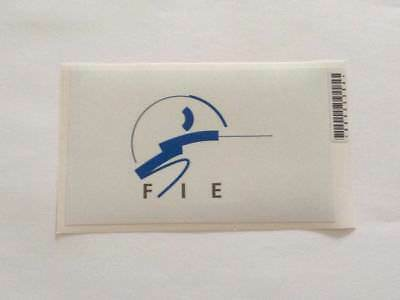 """FIE - Fencing Federation Small Rectangular White Sticker / Decal 3""""x5"""""""